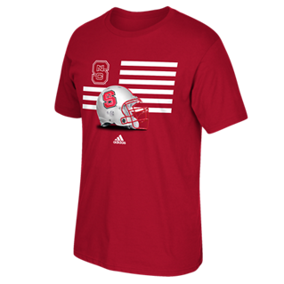 NC State Wolfpack Adidas Red Prevent Defense T-Shirt