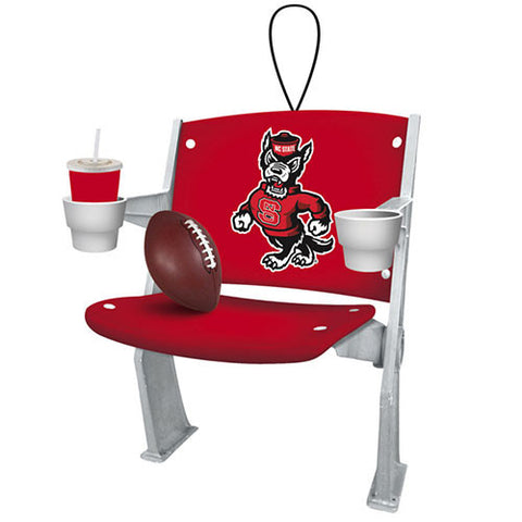NC State Wolfpack Stadium Chair Ornament