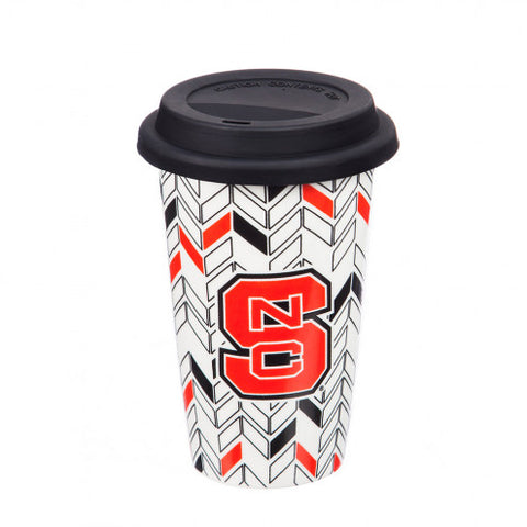 NC State Wolfpack Just Add Color Ceramic Travel Cup