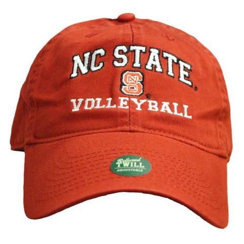 NC State Wolfpack Volleyball Red Relaxed Fit Adjustable Hat