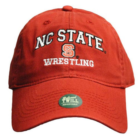 NC State Wolfpack Wrestling Red Relaxed Fit Adjustable Hat