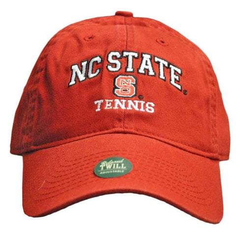 NC State Wolfpack Tennis Red Relaxed Fit Adjustable Hat