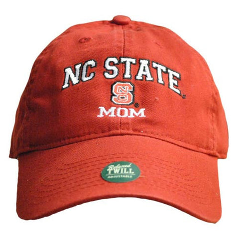 NC State Wolfpack Mom Red Relaxed Fit Adjustable Hat