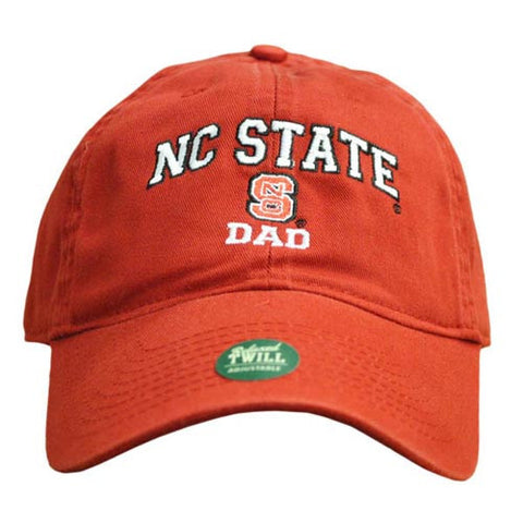 NC State Wolfpack Dad Red Relaxed Fit Adjustable Hat