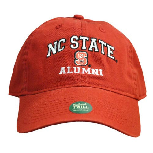 NC State Wolfpack Alumni Red Relaxed Fit Adjustable Hat