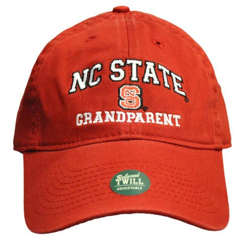 NC State Wolfpack Grandparent Red Relaxed Fit Adjustable Hat
