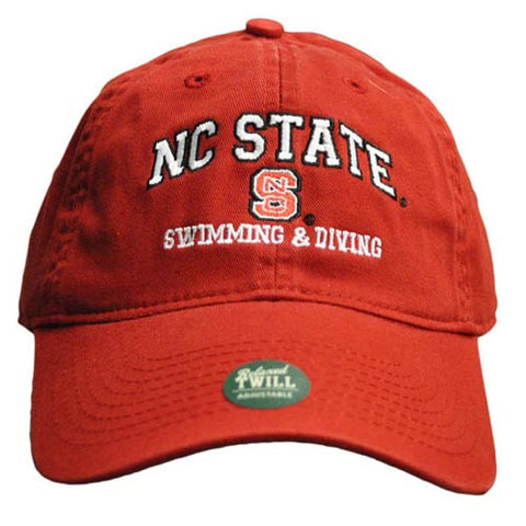 NC State Wolfpack Swimming & Diving Red Relaxed Fit Adjustable Hat