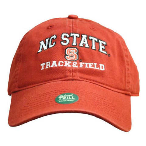NC State Wolfpack Track & Field Red Relaxed Fit Adjustable Hat