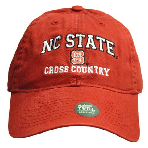NC State Wolfpack Cross Country Red Relaxed Fit Adjustable Hat