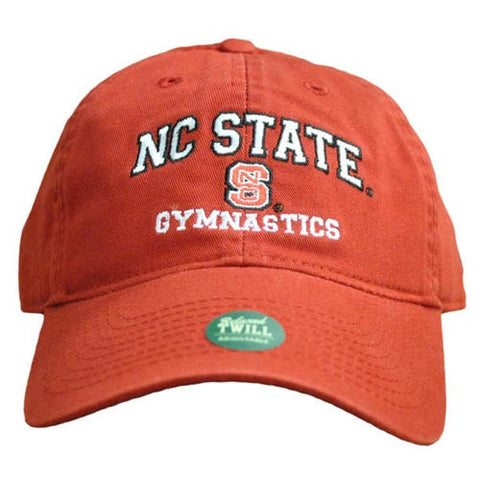 NC State Wolfpack Gymnastics Red Relaxed Fit Adjustable Hat