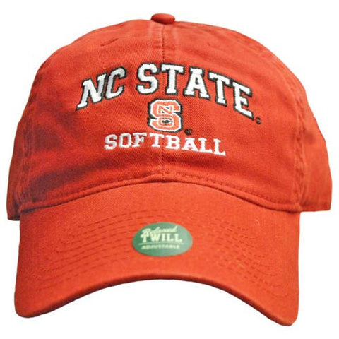 NC State Wolfpack Softball Red Relaxed Fit Adjustable Hat