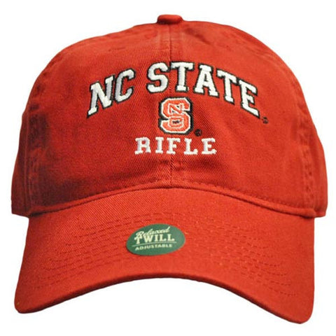 NC State Wolfpack Rifle Red Relaxed Fit Adjustable Hat