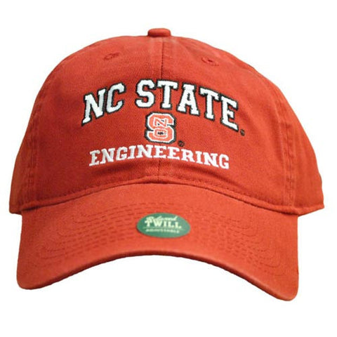 NC State Wolfpack Engineering Red Relaxed Fit Adjustable Hat