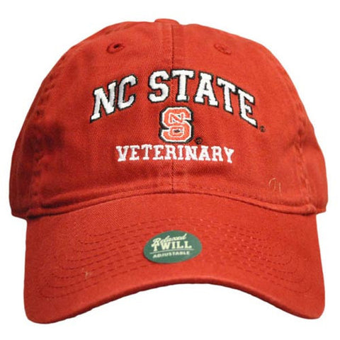 NC State Wolfpack Veterinary Red Relaxed Fit Adjustable Hat