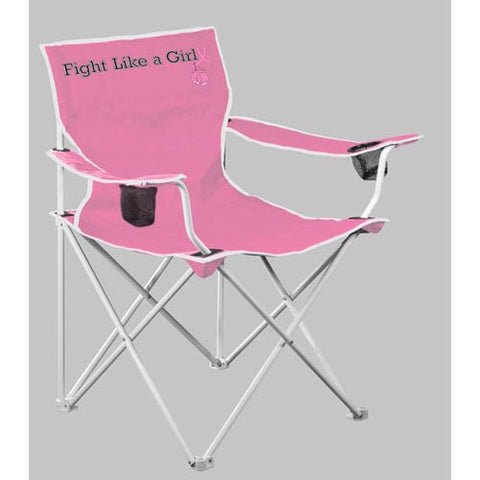 NC State Wolfpack Fight Like A Girl Deluxe Folding Chair