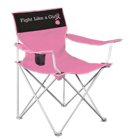 NC State Wolfpack Fight Like A Girl Canvas Folding Chair