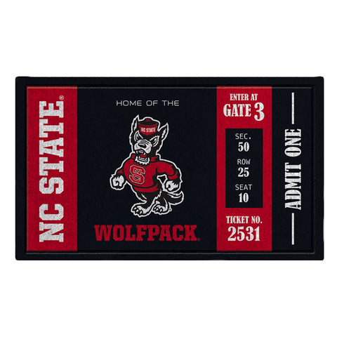 NC State Wolfpack Black Ticket Turf Mat