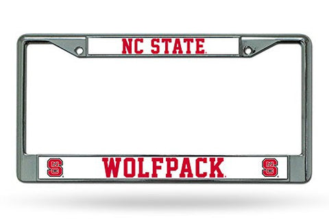 NC State Wolfpack Chrome License Plate Frame