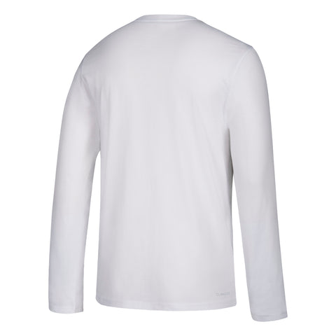 NC State Wolfpack Adidas White On Court Basketball Performance Long Sleeve T-Shirt