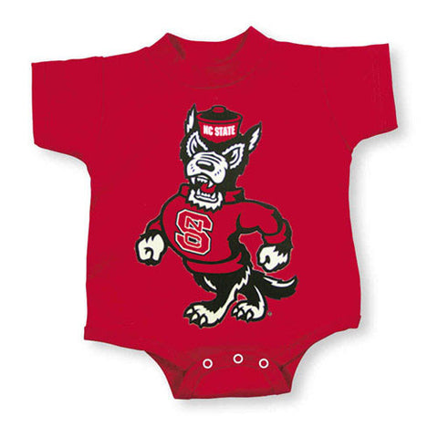 NC State Wolfpack Red Strutting Wolf Onesie