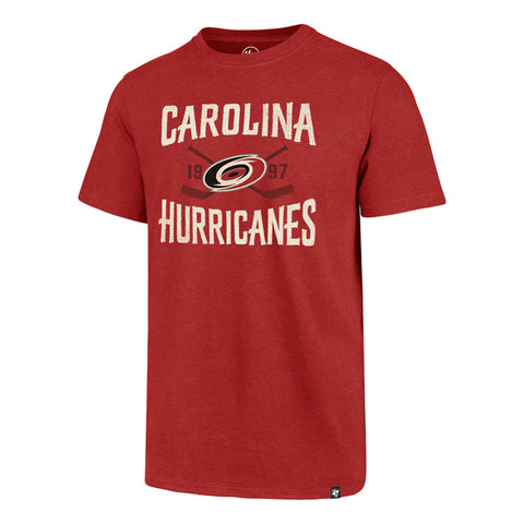 Carolina Hurricanes Red Face Off Club T-Shirt