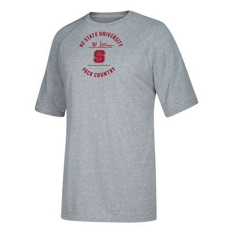 NC State Wolfpack Adidas Youth Grey Pack Country Climalite T-Shirt