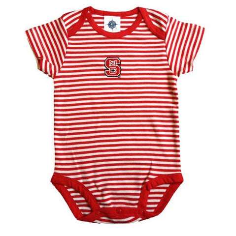 NC State Wolfpack Infant Striped Romper