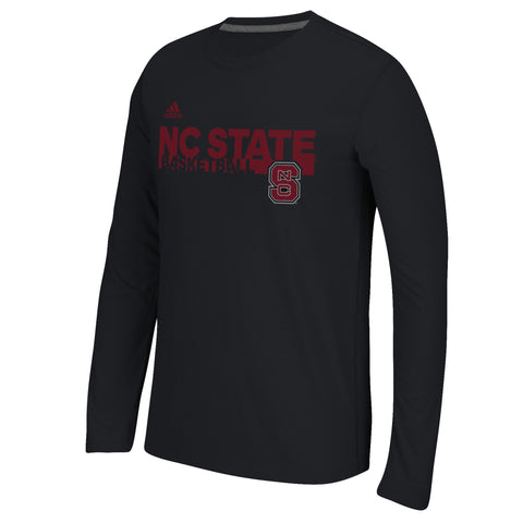 NC State Wolfpack Adidas 2016 Black Grind Basketball Long Sleeve T-Shirt