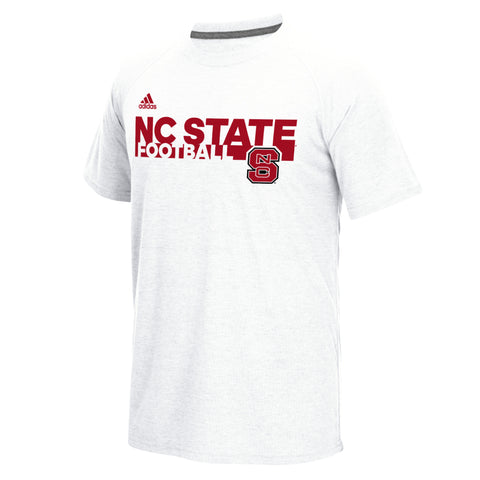 NC State Wolfpack Adidas 2016 White Sideline Grind Football T-Shirt