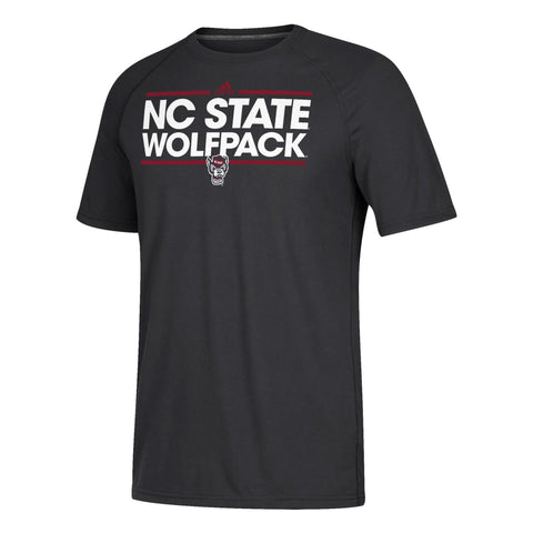 NC State Wolfpack Adidas Black Wolfhead Dassler Creator T-Shirt