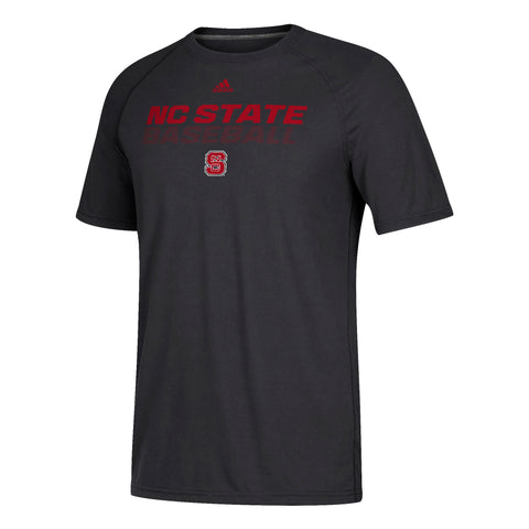 NC State Wolfpack Adidas Black Ultimate Baseball T-Shirt