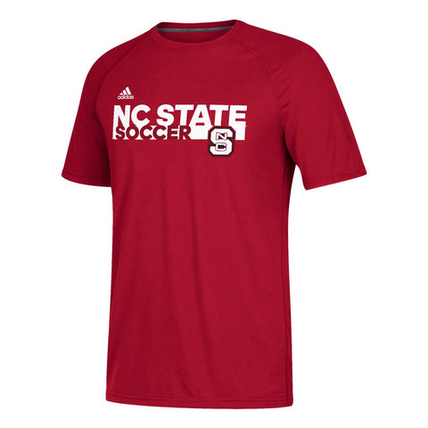 NC State Wolfpack Adidas Red Grind Soccer T-Shirt