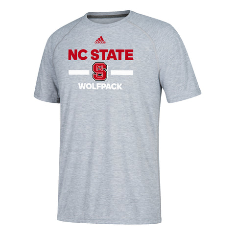 NC State Wolfpack Adidas 2018 Heathered Grey Sideline Ultimate T-Shirt