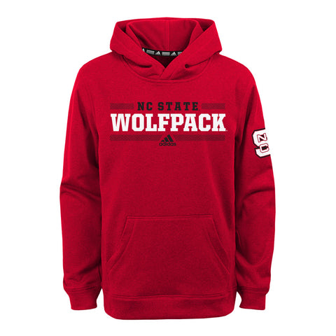 NC State Wolfpack Adidas Youth Red Ultimate Fleece Hooded Sweatshirt