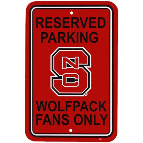 NC State Wolfpack Red Reserved Parking Sign