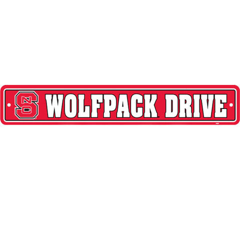 NC State Wolfpack Wolfpack Drive Street Sign