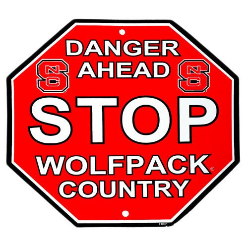 NC State Wolfpack Wolfpack Country Stop Sign