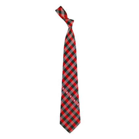 NC State Wolfpack Woven Poly Check Tie