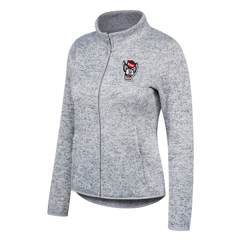 NC State Wolfpack TOW Women's Oxford Grey Tailgate Full Zip Jacket