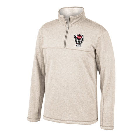 NC State Wolfpack TOW Light Oatmeal Pikes Sherpa 1/2 Zip Jacket