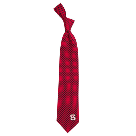 NC State Wolfpack Red and Black Diamante Tie