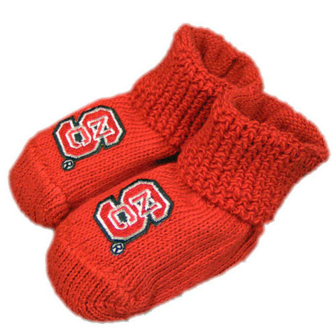 NC State Wolfpack Baby Booties With Gift Box