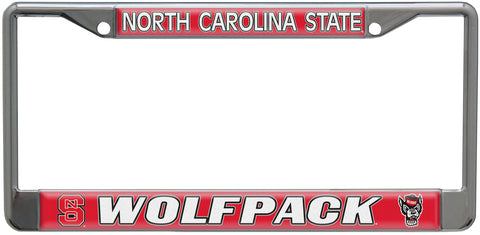 NC State Wolfpack Red Wolfpack Metal License Plate Frame