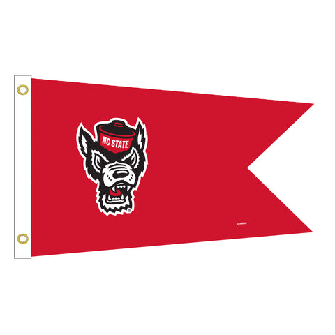 NC State Wolfpack Red Wolfhead Yacht Flag