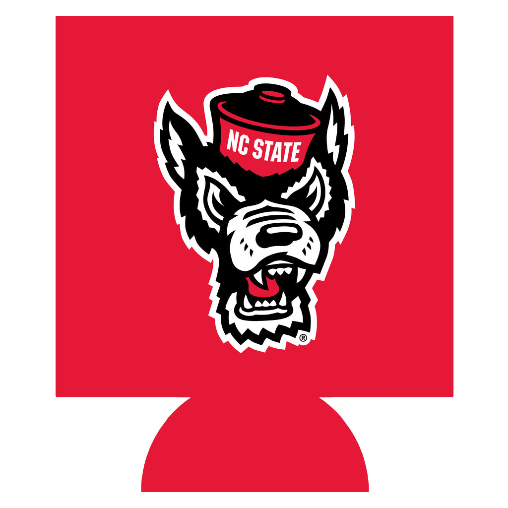NC State Wolfpack Red Wolfhead Can Koozie