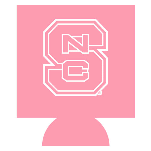 NC State Wolfpack All Pink Block S Can Koozie