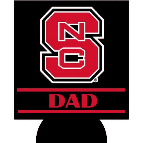 NC State Wolfpack Dad Black Can Hugger