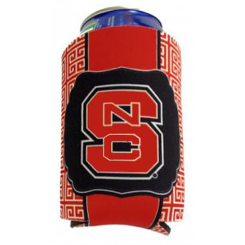 NC State Wolfpack Can Hugger-New Greek Key Design