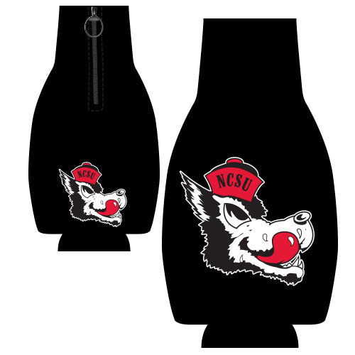NC State Wolfpack Black Slobbering Wolf Bottle Coozie