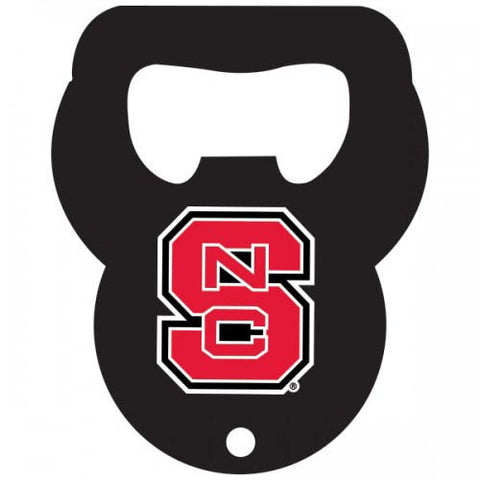 NC State Wolfpack Black Keychain Bottle Opener